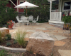 Buff Patio with boulders- Linville