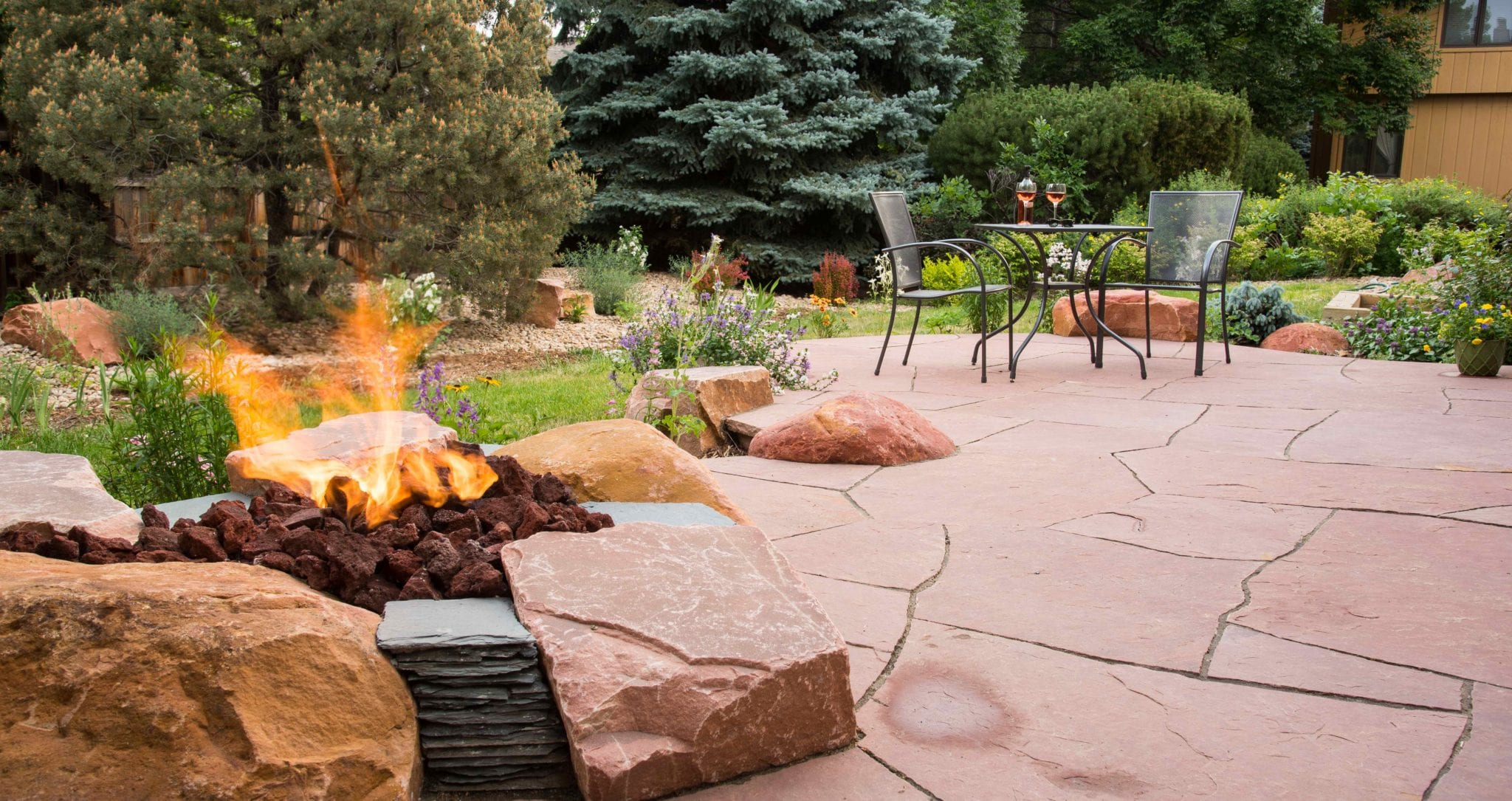 Fire Pit in Patio at Vogt – June2016