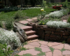 Rear patio with rock garden-Swearington