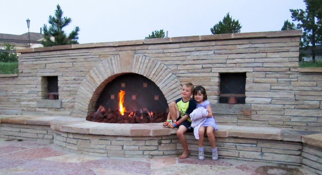 Schwab firepit with kids 600 height