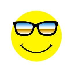 sunglass smiley face