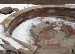 Garvey patio with snow