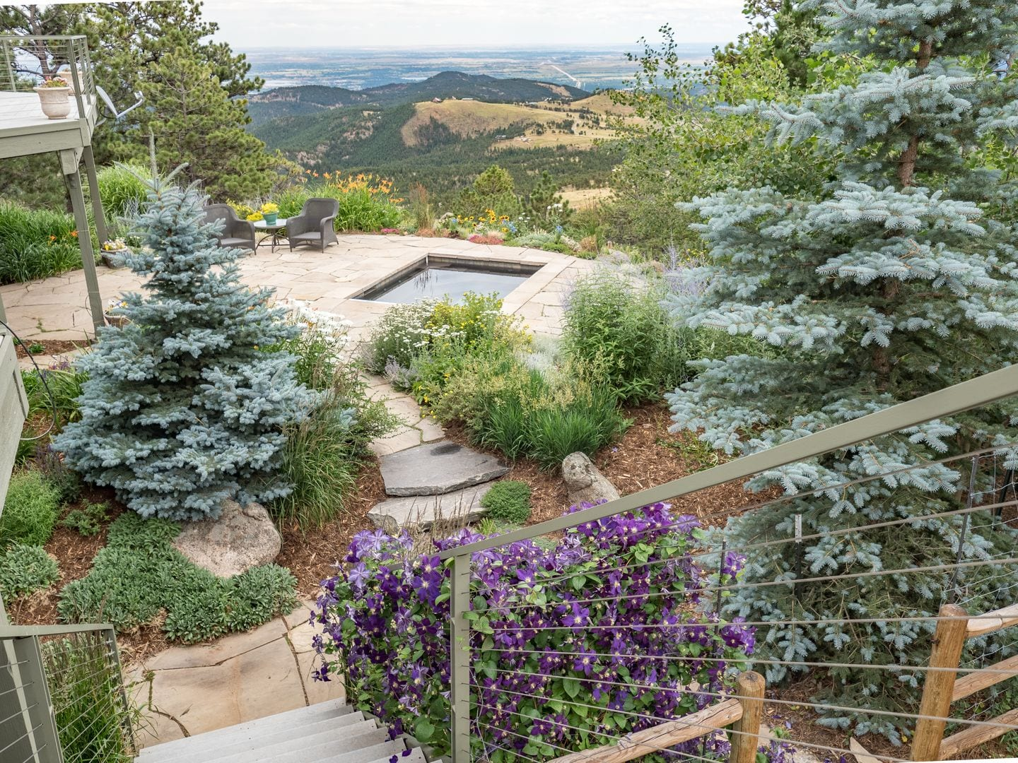 mountain patio landscape Boulder Colorado