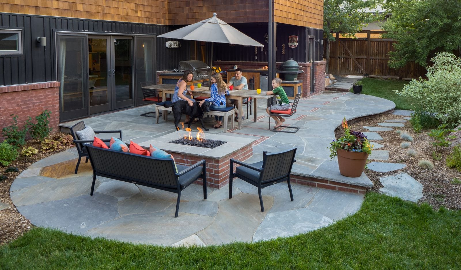 patio with fire pit Boulder Colorado