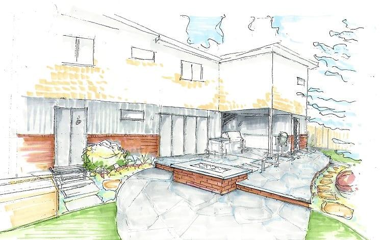 Hand sketch patio-Paulson-745pix