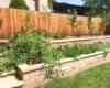 buff sandstone tiered raised veggie bed