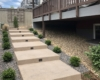 concrete stepway outdoor lighting