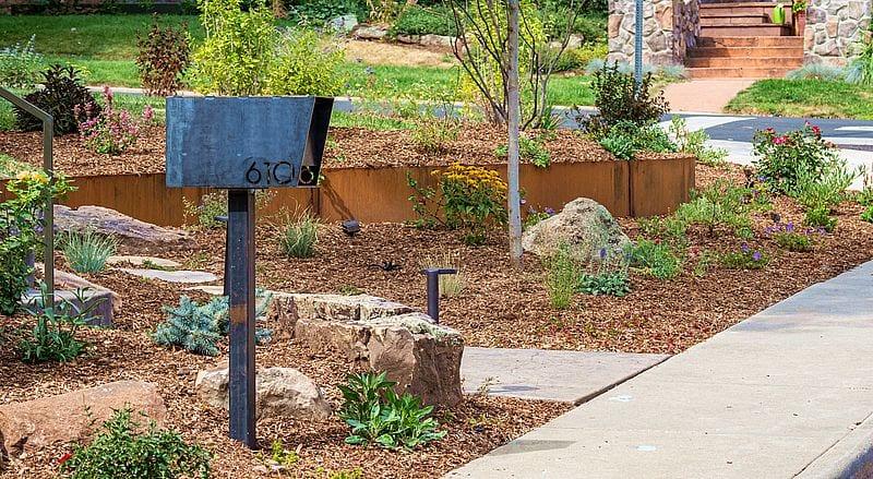 steel mailbox perennial retaining wall