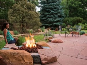 gas fire pit redstone patio